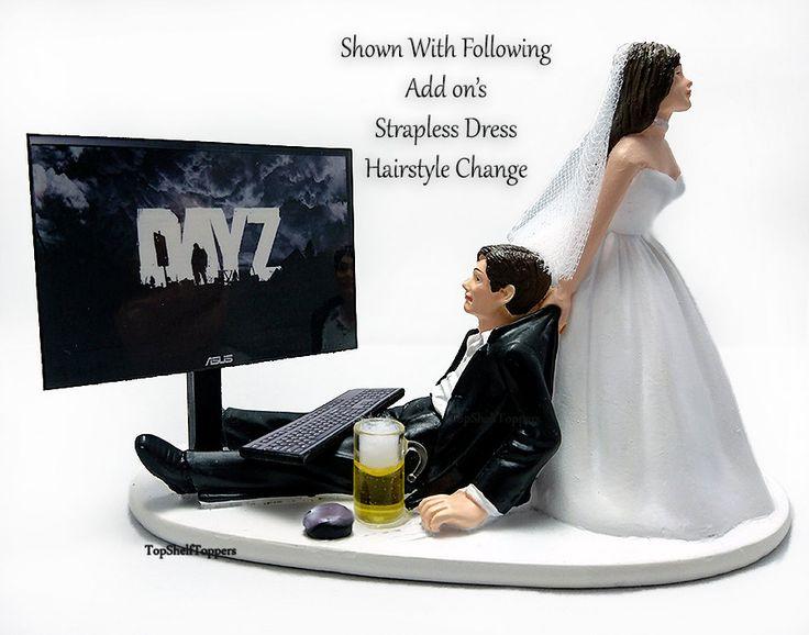 Wedding Cake Topper Day Z Gamer Custom By TopShelfToppers On Etsy