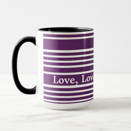 Purple Stripe Mug - home gifts ideas decor special unique custom individual customized individualized
