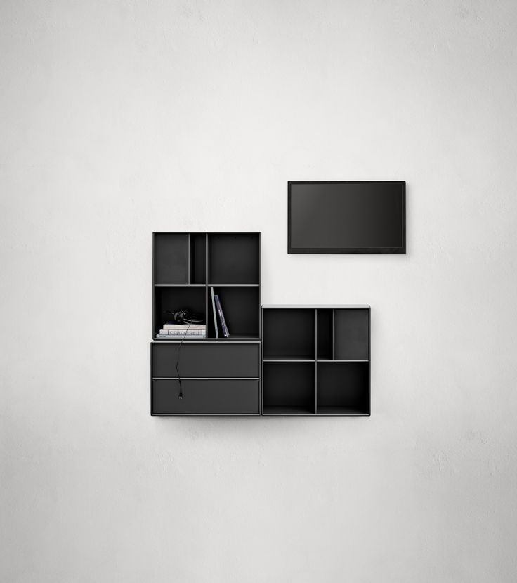 Montana HIFI composition in black. #montana #furniture #danish #design #furniture #storage #interior #inspiration #interiordesign #indretning #inredning #einrichtung