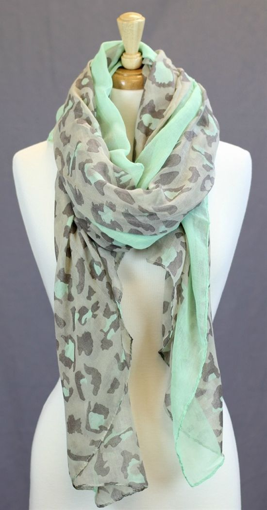mint leopard scarf...yes please!