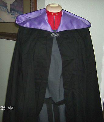 Mens Halloween Costume Ghost Gothic Cape Cloak Tunic Vampire Reaper Skeleton