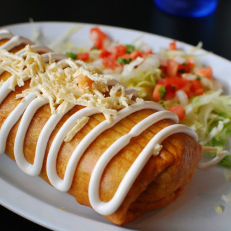 Ground Beef Chimichangas - I don't fry these, just bake on a very high heat.