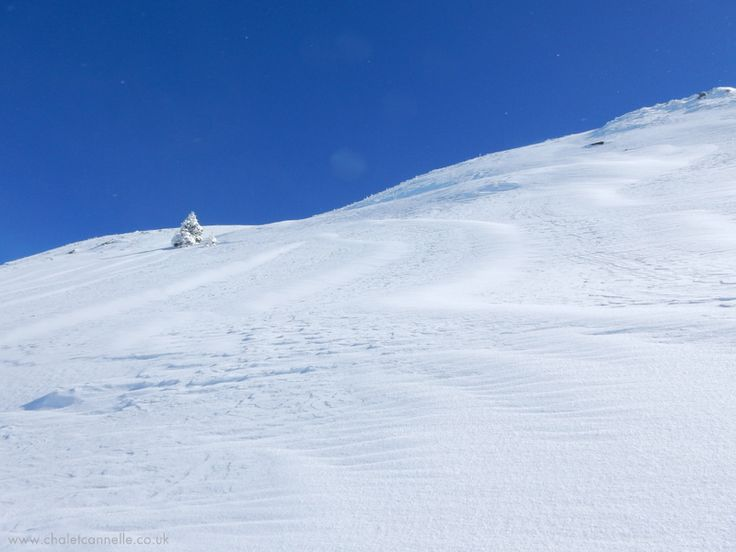 Mountain. Snow. Blue sky.  Love nature, love Chatel