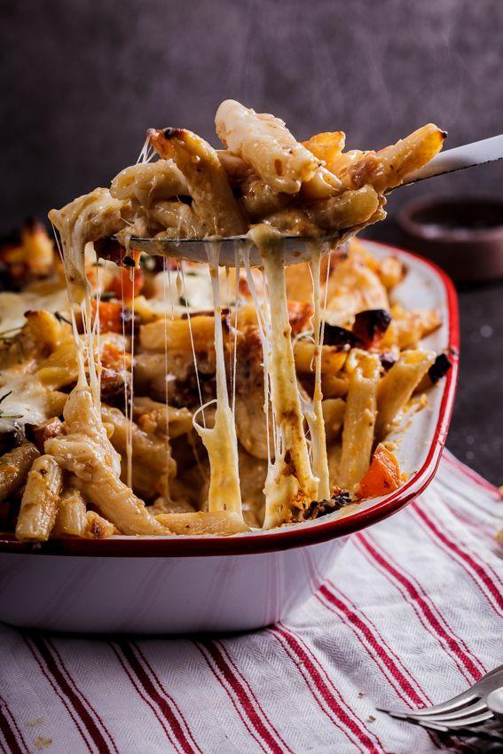 Roasted butternut and buffalo mozzarella pasta bake - Simply Delicious