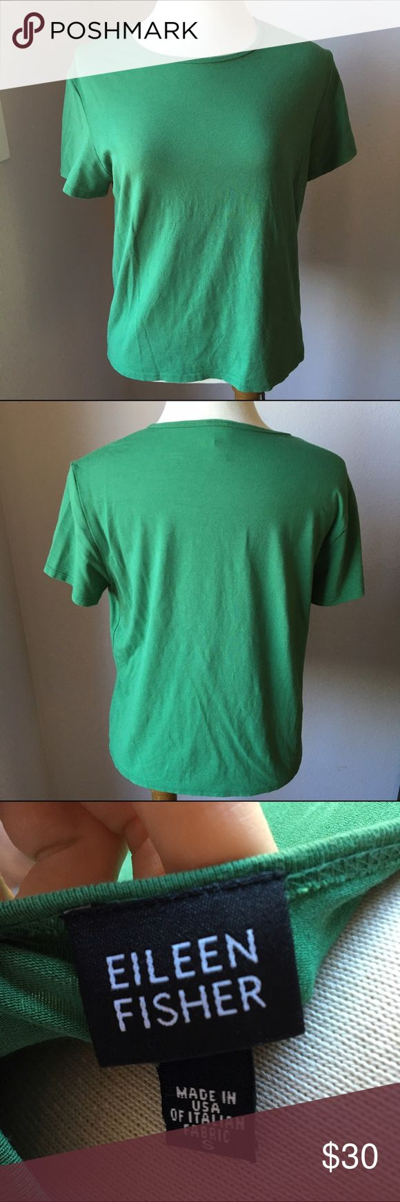 Eileen Fisher Green Short Sleeve Top Size Small Great condition. Bundle & Save 😊 Eileen Fisher Tops Tees - Short Sleeve