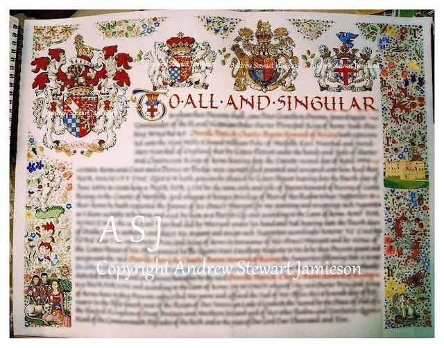 Letters Patent created by Andrew Stewart Jamieson