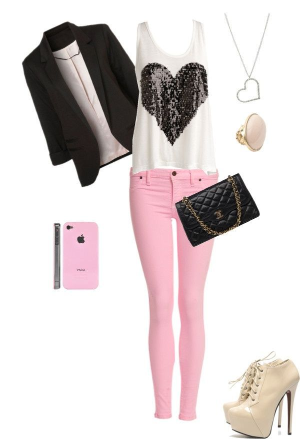 """""""girly outfit"""" by mirandaroo on Polyvore"""