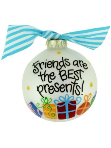 Friends are the Best Presents! Ball Ornament #christmas #pottery