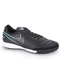 Chuteira Society Nike Tiempo Genio Leather - Preto