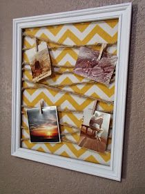One Oops At A Time: Proud Crafter Moment: DIY Memo Board