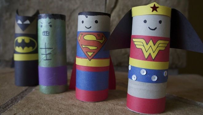 My kids love toilet paper roll crafts cause they are instant satisfaction. take note mom and dads. keep it simple like this and you will be your kids heros. 3 Easy, Geeky Crafts for Kids | GeekMom | Wired.com