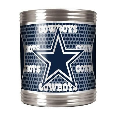 Stainless Steel Can Holder with Metallic Graphics Dallas Cowboys - 73503