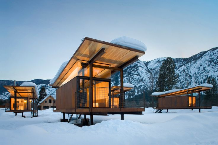 """""""Rolling Huts"""" in Methow Valley - stay in one of these modern beauties for just $125 a night. Sign me up!"""
