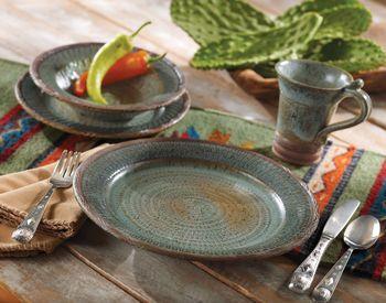 crowe's nest dinnerware | Bold Southwestern Dinnerware-Rustic Dinnerware, Earthenware, and ...