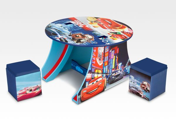 Disney Cars Track Table with Ottomans #furniture #Disney #Cars #toddler