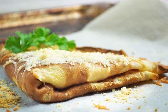 #Bärlauch Crêpes gefüllt und mit Käse überbacken ist eine Köstlichkeit für sich. Das außergewöhnliche Rezept mit herrlichem Geschmack.