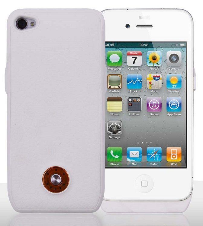 iPhone 4S Şarjlı Kılıf Beyaz