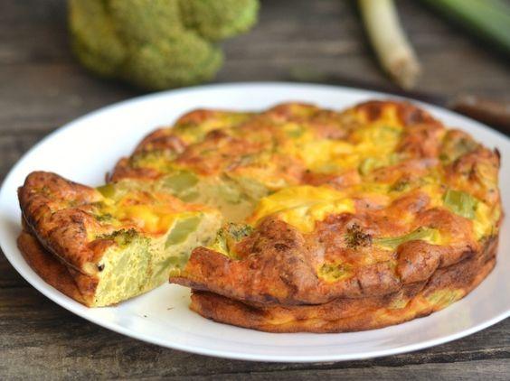 Tészta nélküli brokkolis quiche recept