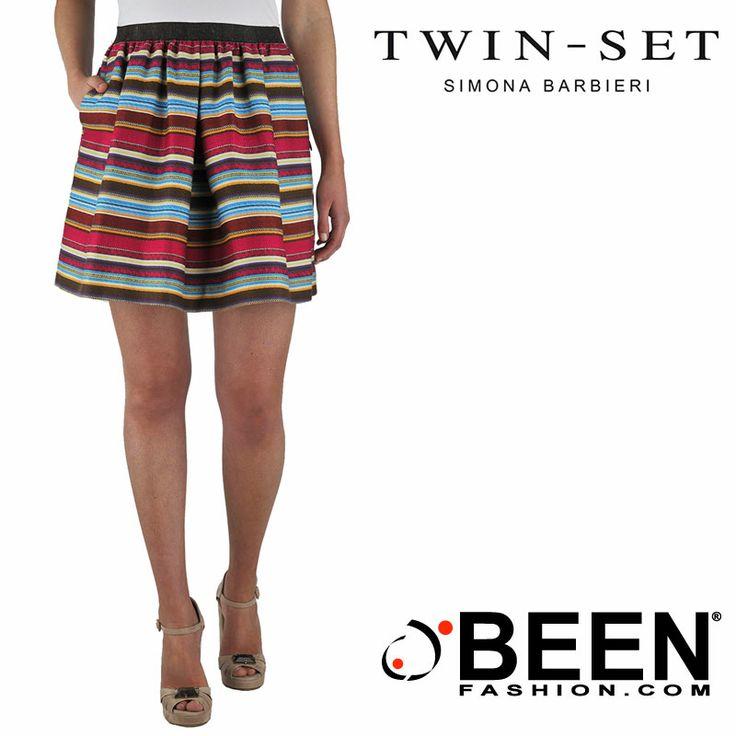 Cosa c'è di meglio di in primavera che una gonna #TWINSET fresca, leggera, colorata e femminile? Può essere tua con un click! http://www.beenfashion.com/it/twin-set-gonna-a-righe.html?utm_source=pinterest.com&utm_medium=post&utm_content=twin-set-gonna-a-righe&utm_campaign=post-prodotto
