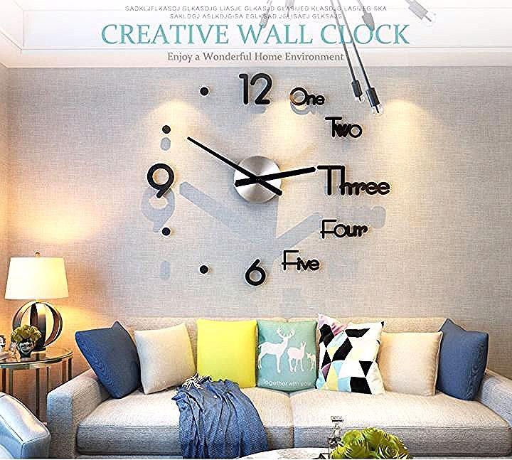 3d Diy Wall Clock Kit In 2020 Large Wall Clock Modern Diy Clock Wall Wall Clock Kits