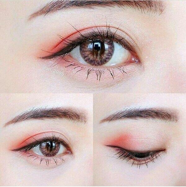 #korean #makeup #red #eyeliner #eyeshadow #eyemake…