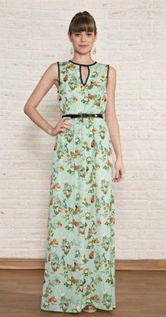 vestido longo para se vestir bem no verão