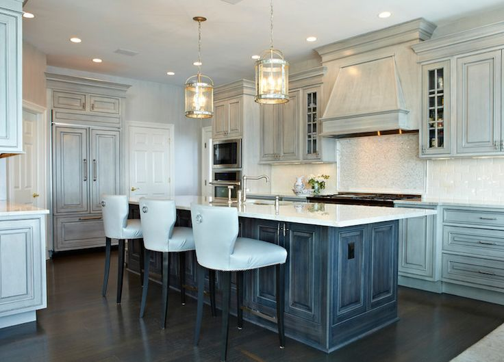 Best Distressed Gray Kitchen Cabinets Transitional Kitchen 400 x 300