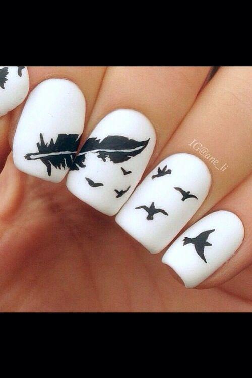 #nailart #feathers #birds