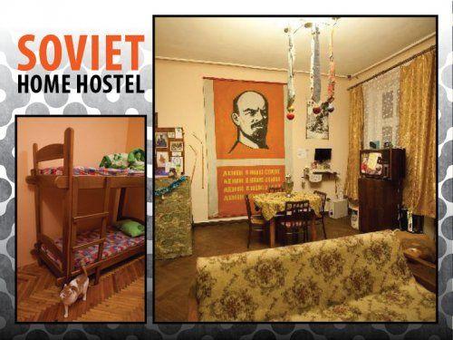 Soviet Home Hostel è un ostello nel centro di Leopoli in Ucraina. Un mix di moderni comfort e atmosfere da est europa anni 70!