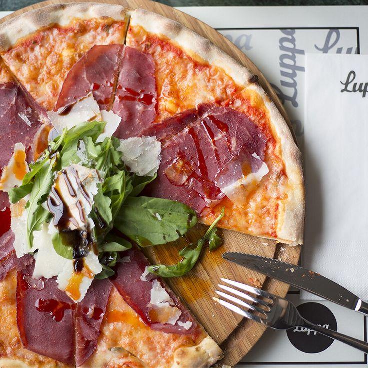 Pizza Valtellina (pizza sos, dana bresaola, mozerella peyniri, roka, parmesan peyniri) - Luppa/Çayyolu - Ankara (Gordion Konutları altı) Telefon: 0312 241 42 22