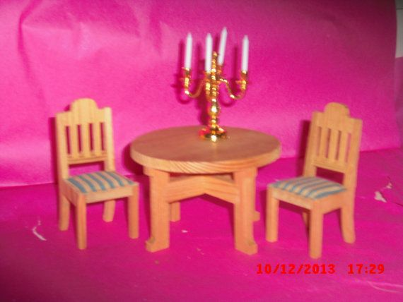 Lundby kitchen table an chairs by VintageLundbyLove on Etsy, £8.00