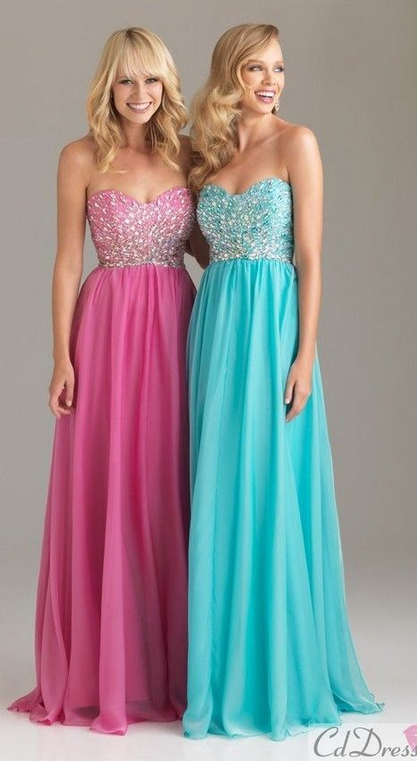 prom dress prom dresses reminds me of my sister and I I love blue she loves pink and we're twins