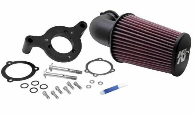 K&N HARLEY-DAVIDSON PERFORMANCE INTAKE Kit. *2008-17 Dyna/Softail & 2001-07 Twin Cam F/I**Softail & Twin-Cam Models (+10.21hp)*