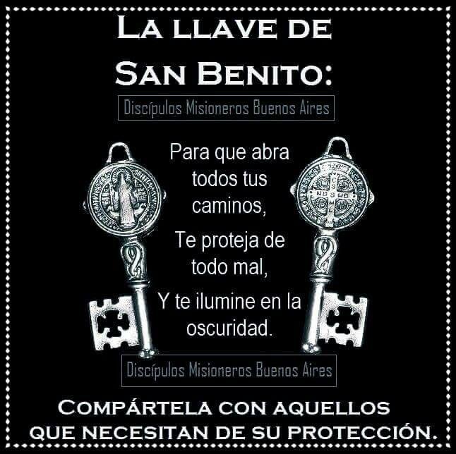 Con la llave de San Benito!