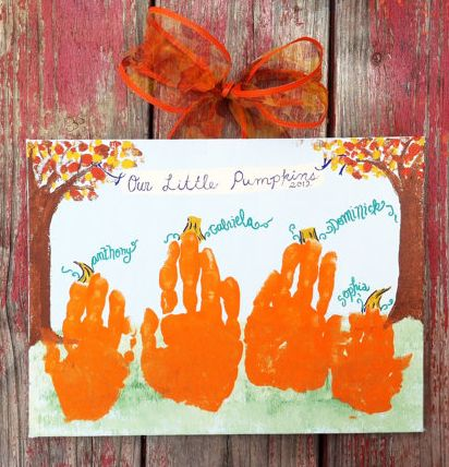 Pumpkin Handprint Kids Craft Kit By GiftsbyGaby On Etsy