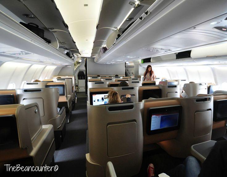 Qantas A330 Business Class cabin