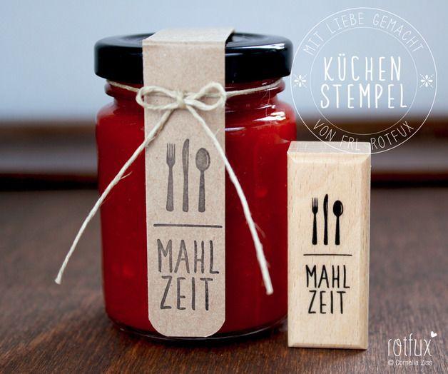 "Stempel ""Mahlzeit"" // stamp by ROTFUX via DaWanda.com"