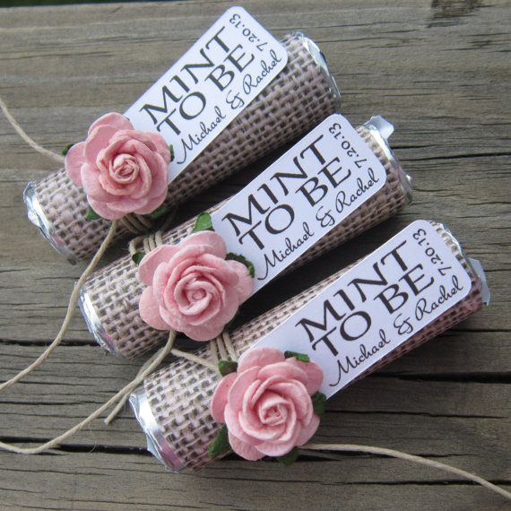 Wedding favors Set of 150 mint rolls Mint door BabyEssentialsByMel
