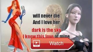 And i love her Beatles karaoke lento