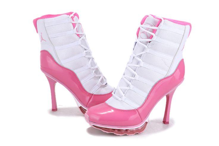 Nike Air Jordan High Heel Sko Hvit Rosa For Kvinner APVyd56965562 - (nike sko nettbutikk)