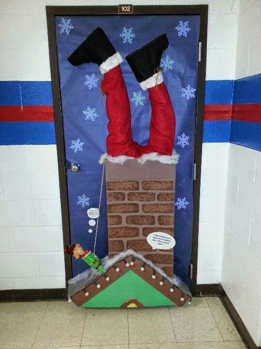 Mimos de Infância: 18 diferentes decorações de portas natalícias