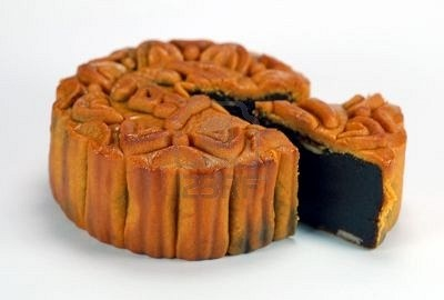 red bean paste chinese moon cake which is must for mid-autumn festival