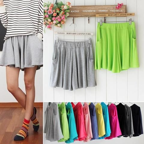 Fashion women shorts skirts 2016 New cheapest women cotton outerwear short pants…