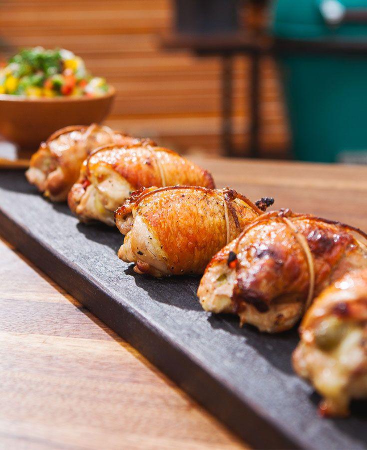 Hauts De Cuisse De Poulet Farcis à La Brésilienne Chicken Grilled Bbq Stuffed Food Foodlavie Poulet Farci Cuisses De Poulet Farcies Poulet