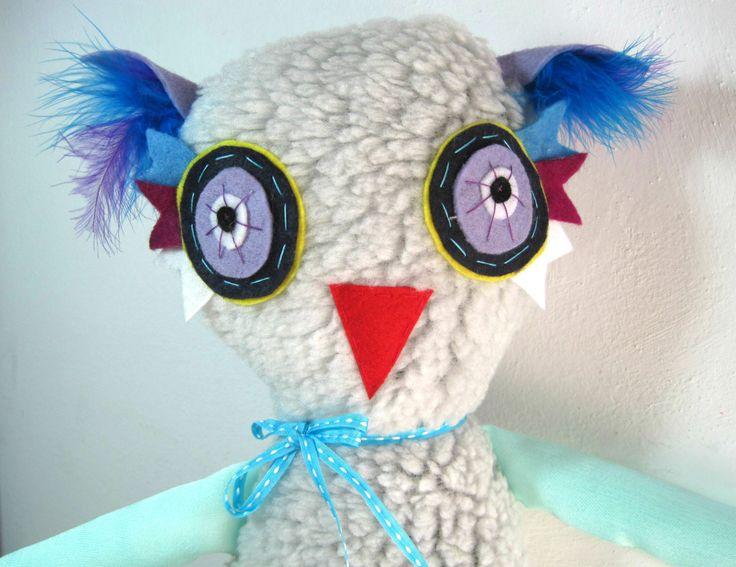 Jason the Owl!! Stuffed animal toy!! by JazzyRaccoon on Etsy