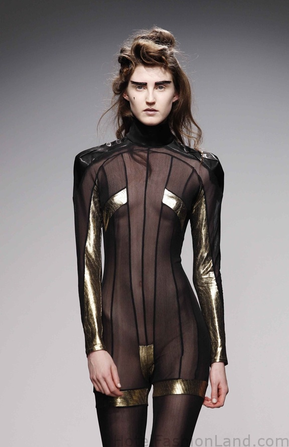 Pam Hogg #transparent #gold #catsuit