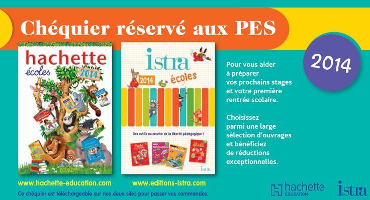 Chéquier de réduction Hachette/Istra 2014 pour PES.