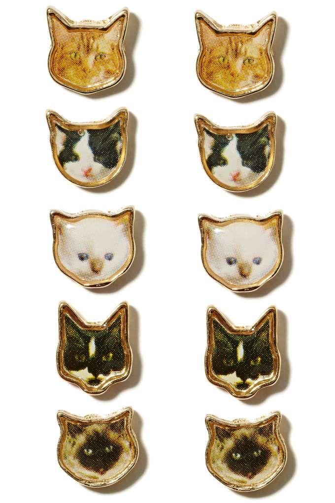 Good Kitty Earring Set