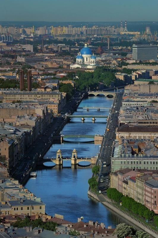 St.Petersburg Russia. Trinity Cathedral in background