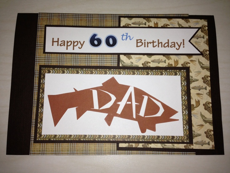 This the card for my father-in-law's 60th birthday on the 17th. He's a big fisherman  and when I saw this design on the following blog, I was inspired: http://acanineintime.blogspot.com/2012/09/dads-60th-birthday-card.html  My design is slightly different than the original.